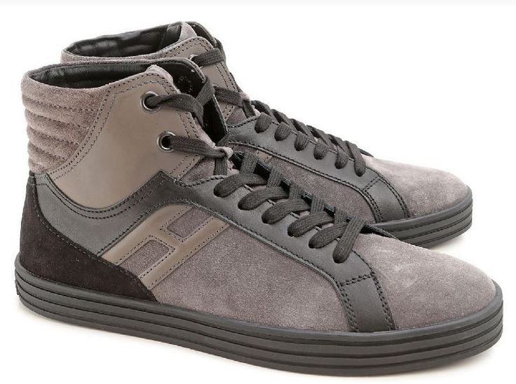 SNEAKERS ALTE HOGAN REBEL UOMO IN CAMOSCIO MARRONE #barratostyle#barratoofficial#barrato.it