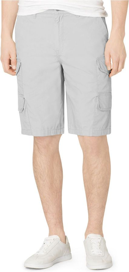 $69, Grey Shorts: Calvin Klein Jeans Poplin Cargo Shorts. Sold by Lord