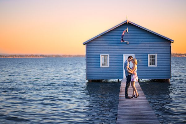 One of Perth's most famous pre-wedding and wedding photography location - the blue boathouse