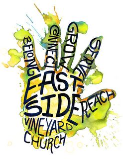 Logo Design for Eastside Vineyard Church  t-shirts available at skreened.com  www.alexmclark.com
