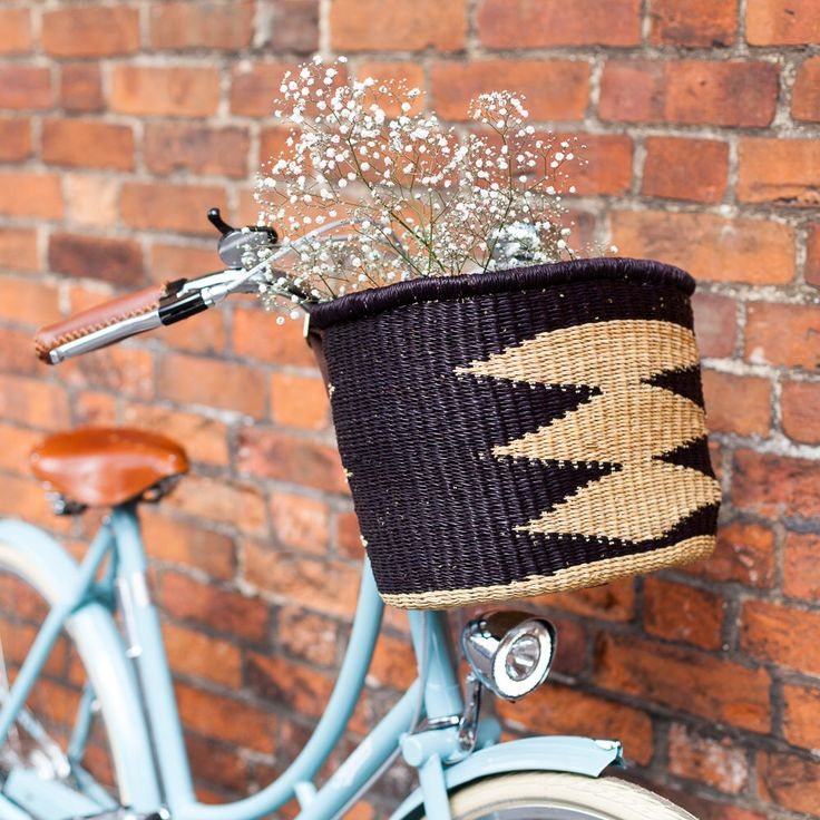Black African Bolga Bike Basket by TheBasketRoom on Etsy https://www.etsy.com/listing/399006801/black-african-bolga-bike-basket