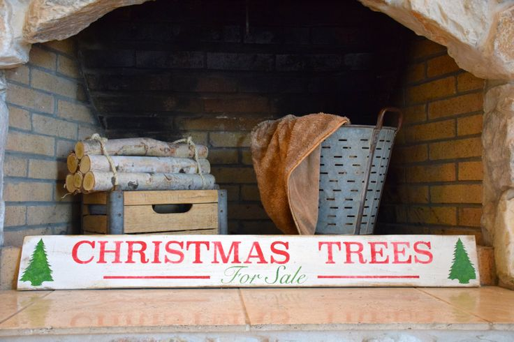 Christmas Trees for sale sign, wooden christmas tree sign, Christmas wall decor by RBThomedecor on Etsy