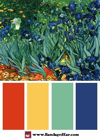 Vincent van Gogh Color Palettes « BandagedEar.com Blog