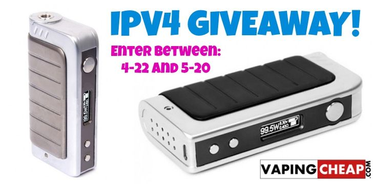 Enter to Win a IPV4 Box Mod from http://VapingCheap.com