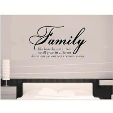 DIY Family Quotes Wall Stickers Art Vinyl Removable Decal Home Room Decor Mural
