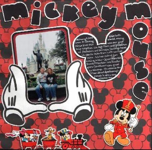 February 8, 2003 Disney World - Scrapbook.com - Mickey Mouse