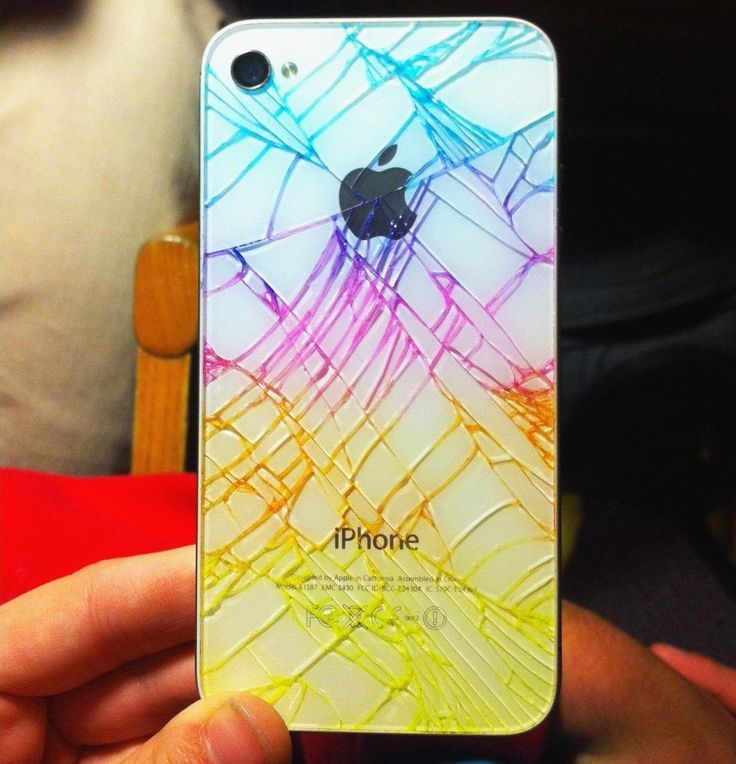 """""""Just draw all over the back with a highlighter and rub the excess ink off with a paper towel. The ink will stay in the cracks, but rub off the rest of the back. To avoid dangerous glass shards or ink rubbing off, cover with one piece of clear packing tape or something similar, like clear nail polish."""""""