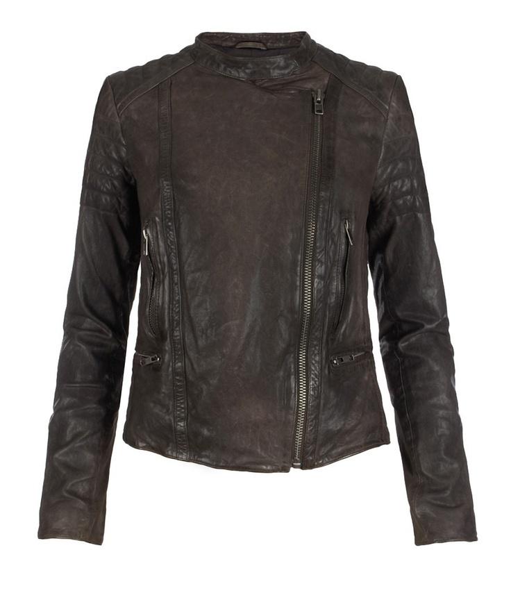 Bamlet Leather Jacket, Women, Leather, AllSaints Spitalfields