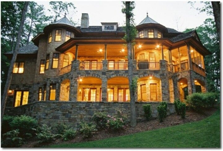 My dream mansion in the woods mansions pinterest for Custom dream homes