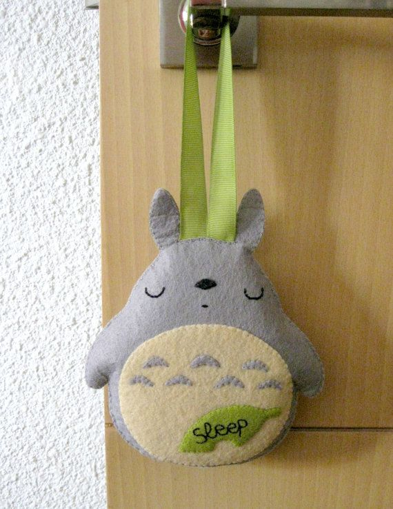 Felt ornament Totoro hanging decoration  by HappyAkindo on Etsy, $20.00