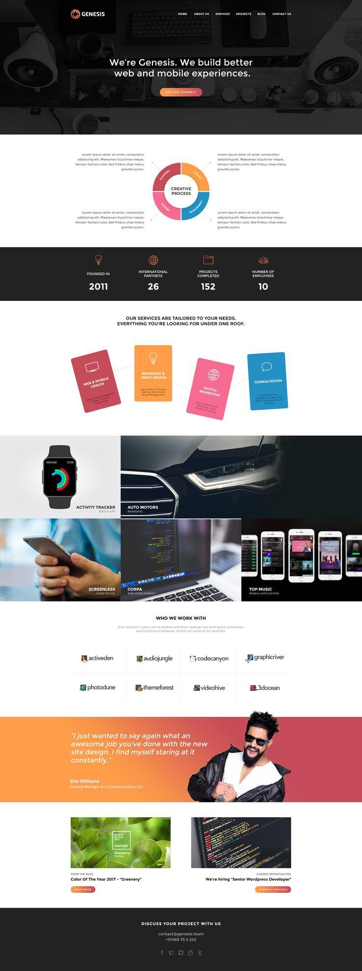 Genesis - Creative PSD Template by Geserjav | ThemeForest