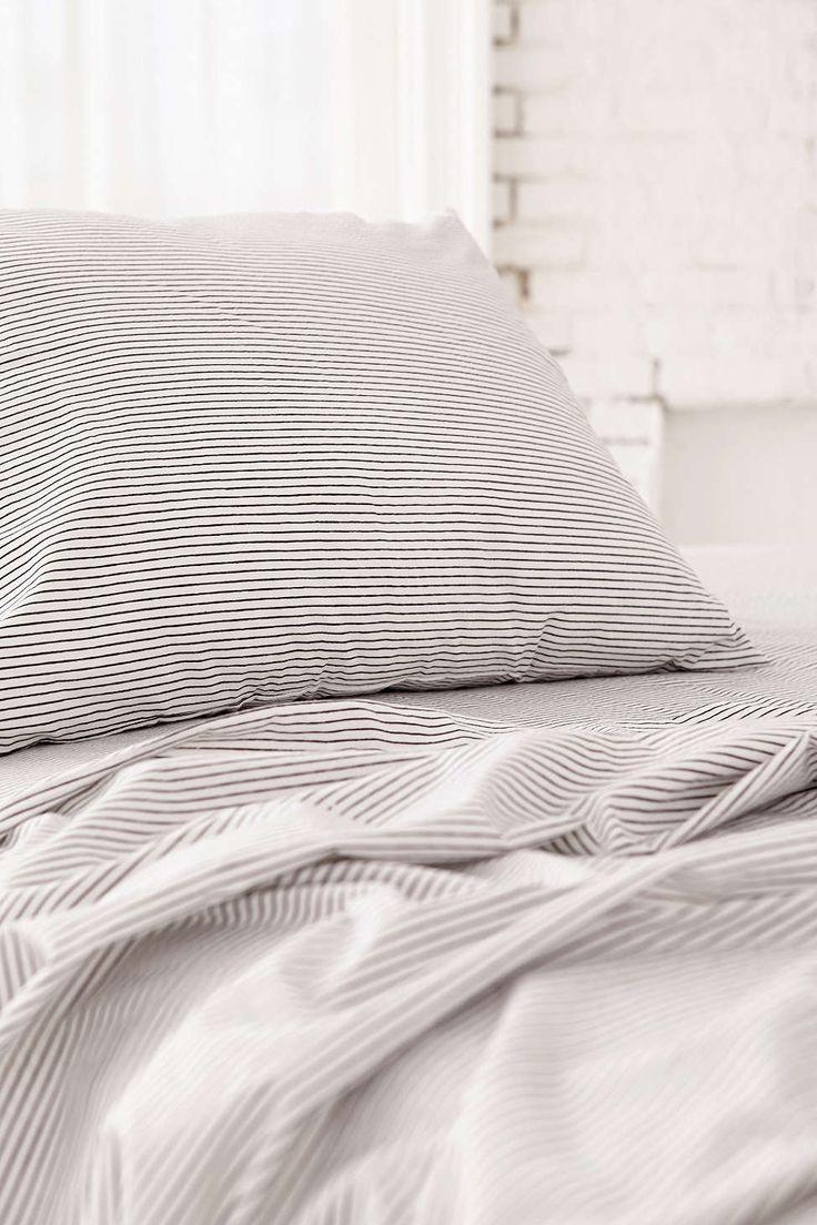 covina stripe flat sheet - Striped Sheets