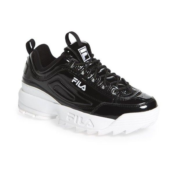 c1e8138a3f2 Women's Fila Disruptor Ii Premium Patent Sneaker ($90) ❤ liked on Polyvore  featuring shoes, sneakers, fila shoes, fila footwear, quilted shoes, ...