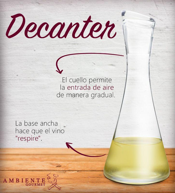 ¿Algunas vez has escuchado la palabra decanter? Si eres conocedor del #vino, este práctico #producto te resultara muy útil.