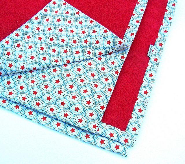 deken met fleece & katoen