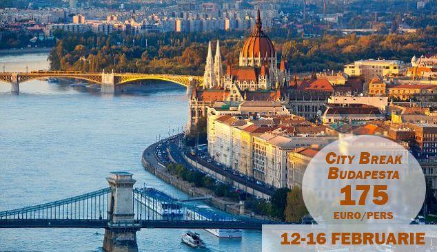Oferta valabila doar AZI!  Indragosteste-te de Budapesta intr-un City Break de Valentine's Day.  Pachetul include bilete de avion si 4 nopti cazare la un hotel de 4*, cu mic dejun inclus.
