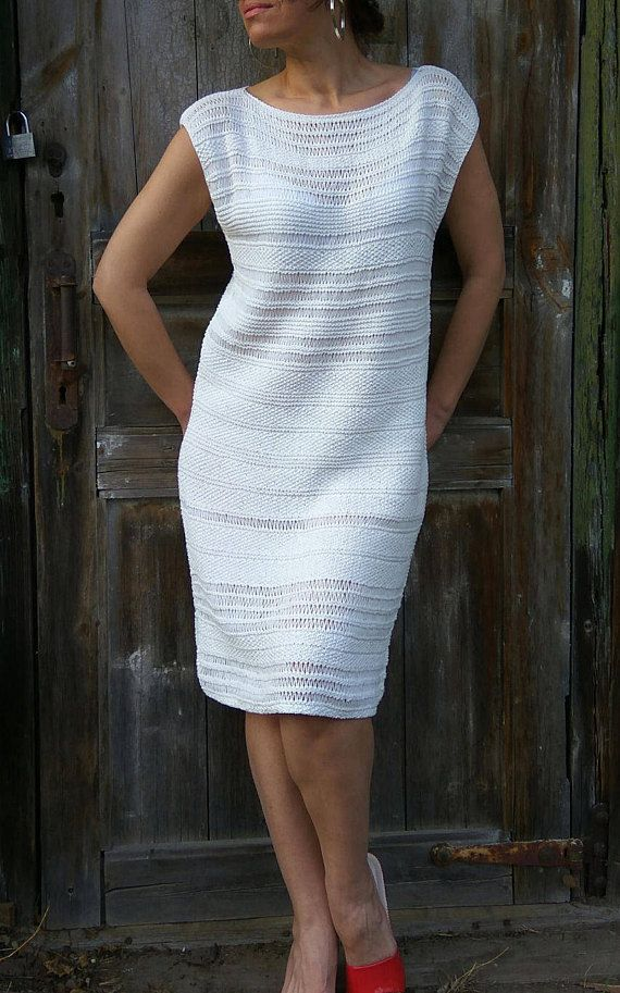 White Summer Dress Mother Bride Dress Formal Pencil Dress