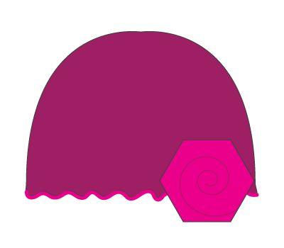 vintage hat: dark purple/hot pink flower