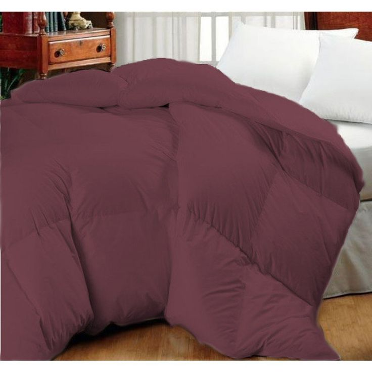 Super Oversized-High Quality-Down Alternative Comforter- Fits Pillow Top Beds - Dark Maroon
