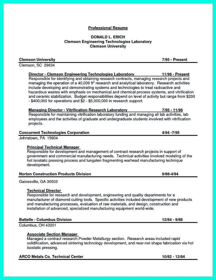 cool Successful Objectives in Chemical Engineering Resume