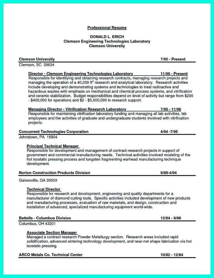 Resume Objective For Internship Engineering