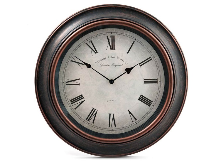 A great classic copper clock that can be used in the #kitchen or #lounge, great for any home décor project.