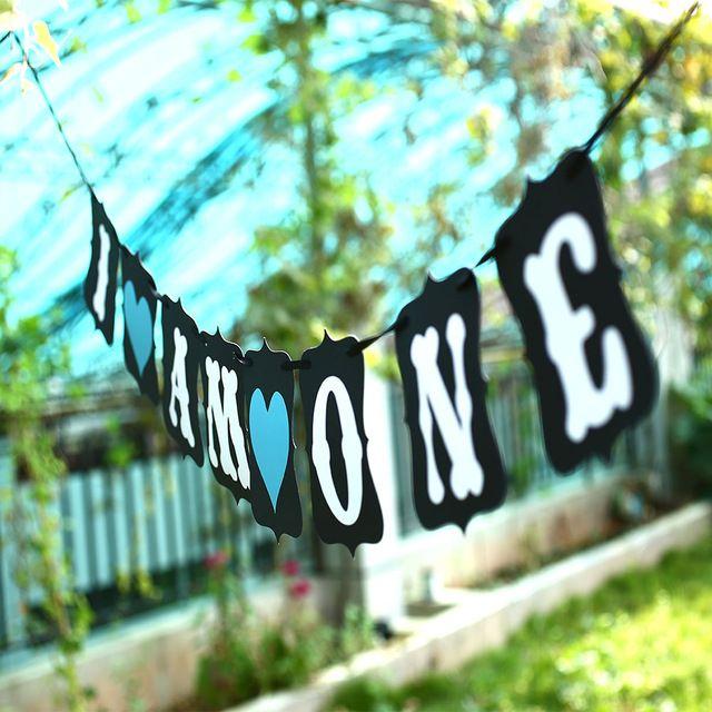 hete verkoop vintage 2016 zoete verjaardag opknoping banner bunting baby blauw ik ben een feestje decoratie gebeurtenis decor
