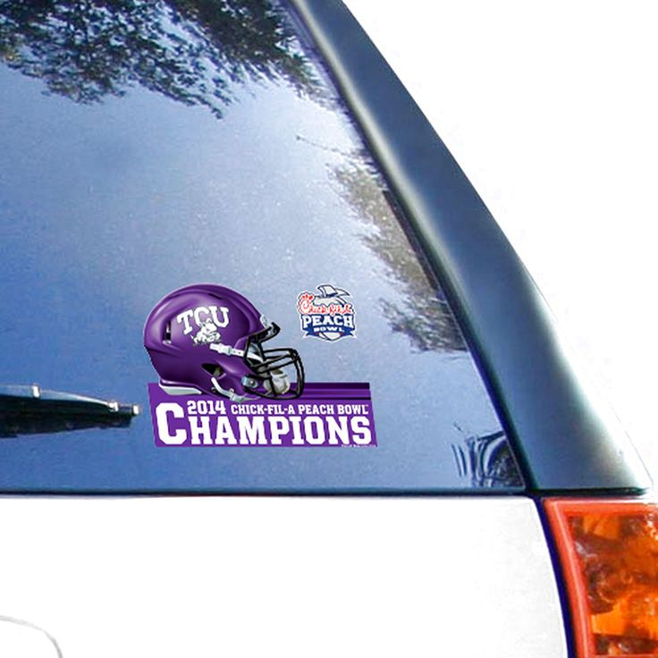 """TCU Horned Frogs WinCraft 2014 Peach Bowl Champions 4"""" x 6"""" Multi-Use Decal - $3.19"""