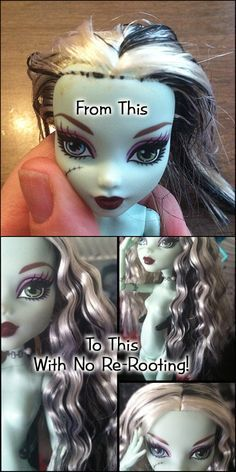 Monster High hair repair without re-rooting!