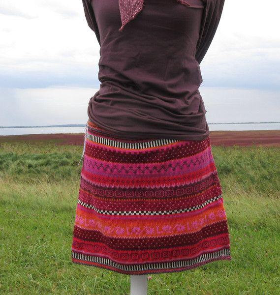 Miniröcke - Strickrock Tuula Gr. M - ein Designerstück von Lotta_888 bei DaWanda