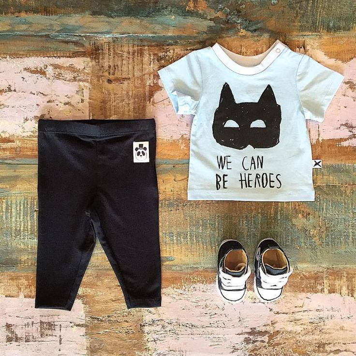 BABY • Minti baby heroes tee, Mini Rodini organic cotton leggings & Converse Baby Chucks. Shop these styles at Tiny Style in Noosa & online • www.tinystyle.com.au
