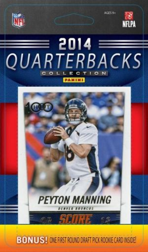 2014 Score NFL Football Quarterbacks Collection Special Edition Factory Sealed 10 Card QB Set Including the HOT 100 Issues of Peyton Manning  Tom Brad. This is a brand new 2014 Score NFL Football Quarterbacks Collection Special Edition Factory Sealed 10 Card QB Set including the HOT 100 issues of Peyton Manning  Tom Brady  Tony Romo  Aaron Rodgers  Andrew Luck  Drew Brees  Russell Wilson  Robert Griffin III  Cam Newton and Ben Roethlisberger. Great way to get all of your favorite stars for…