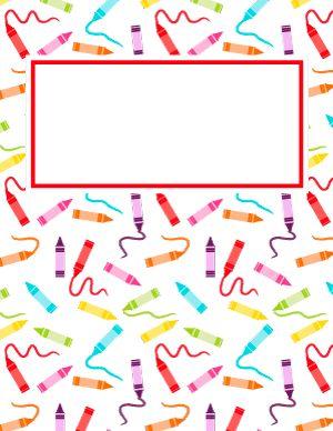 Crayon Binder Cover