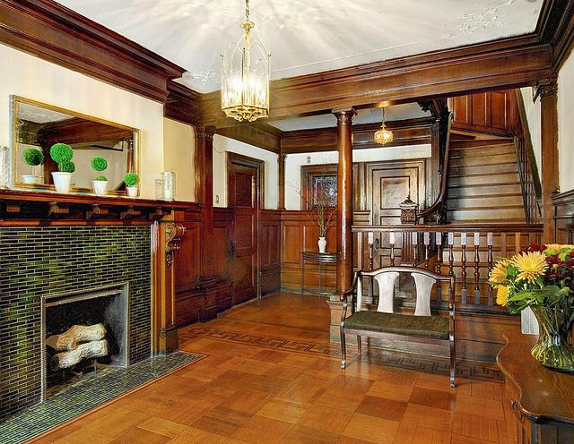 West 142nd Street New York Hamilton Heights brownstone Victorian woodwork interior
