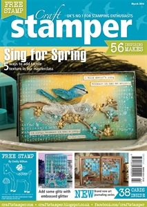 Craft Stamper March 2014 issue - cover card by Anna-Karin Evaldsson