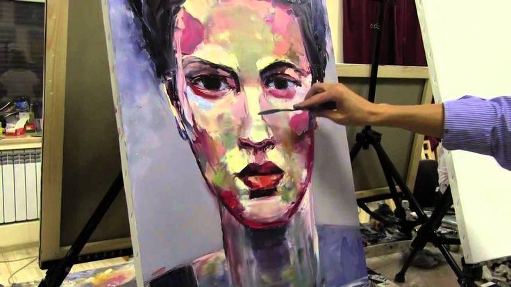 Портрет женщины девушки интерьерная живопись маслом картины в интерьер