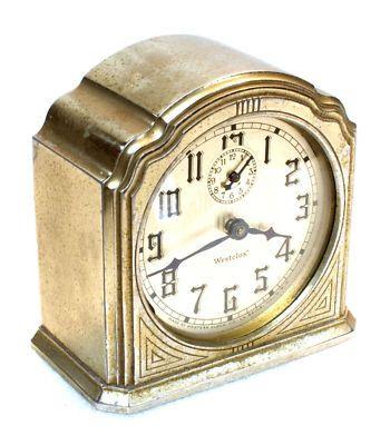 Antique Westclox Dura 61-C Alarm Clock