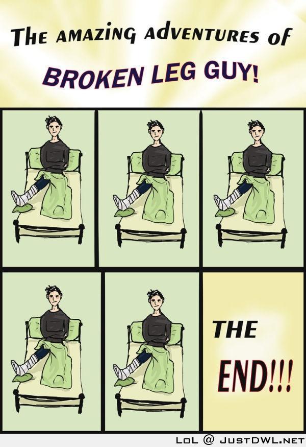Веселые картинки со сломанной ногой, про память
