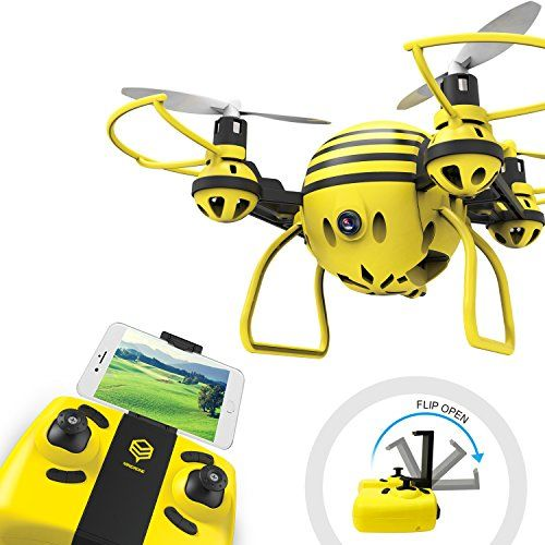 HASAKEE H1 FPV RC Drone with HD Live Video Wifi Camera and Headless Mode 2.4GHz 6-Axis Gyro Quadcopter with Altitude Hold,One-Button Take off/Landing,Good for Beginners