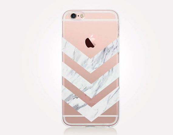 Transparent White Marble Phone Case  Transparent Case  by CRCases