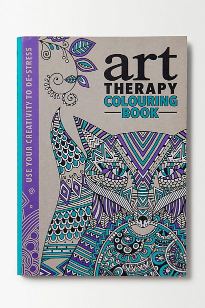 Art Therapy Colouring Book... I think I need this.