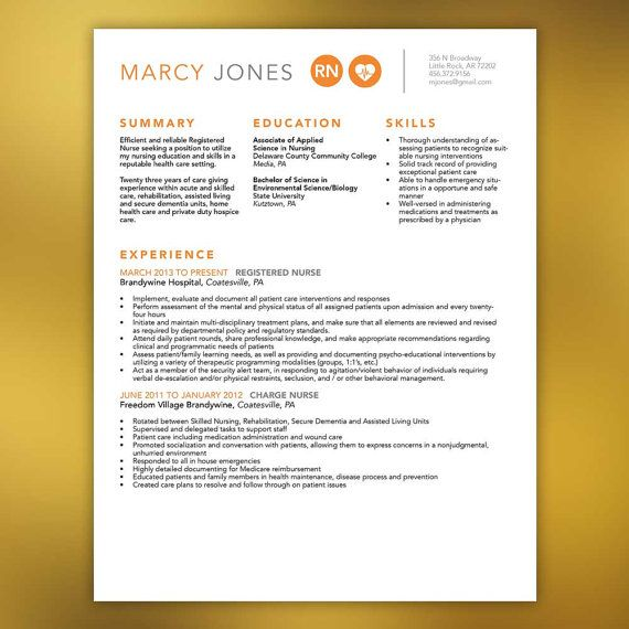 nurse resume templateincludes extra page by scribblednapkin