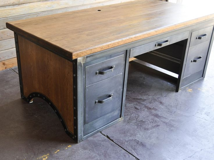 Chairmen Desk By Vintage Industrial Furniture