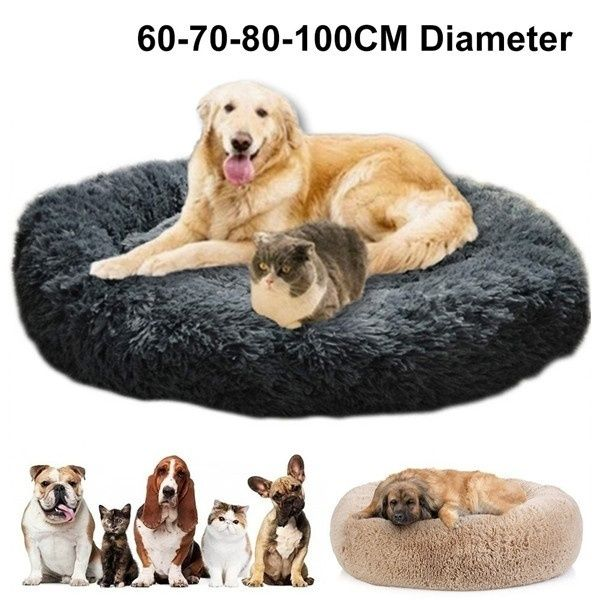 60 100 Cm Diameter Luxury Extra Large Dog Beds Sofawashable Fluffy Round Winter Dog Bed Wish Extra Large Dog Bed Dog Bed Large Winter Dog