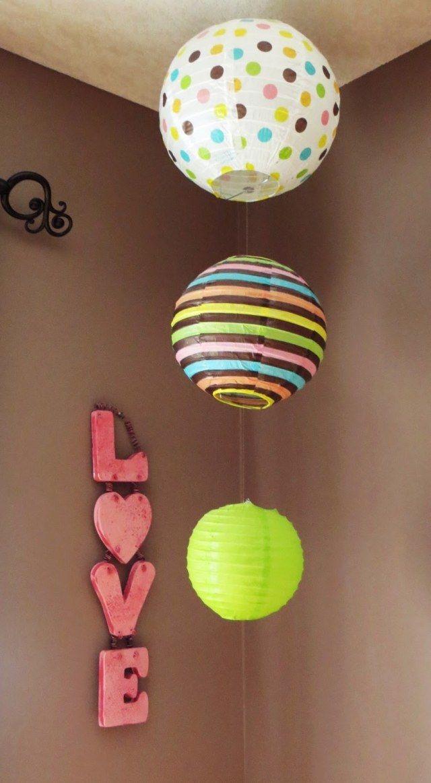 déco de la chambre ado pour fille DIY en lanternes en papier