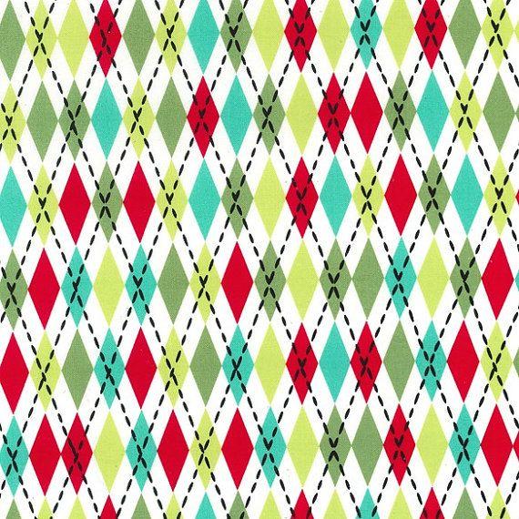 Santa Socks Argyle  Michael Miller Fabrics by StitchinStash, $8.75  https://www.etsy.com/listing/172038593/santa-socks-argyle-michael-miller?ref=sr_gallery_5&ga_search_query=red+fabric&ga_order=date_desc&ga_ref=auto1&ga_view_type=gallery&ga_page=12&ga_search_type=all