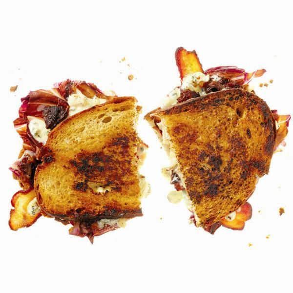 Gourmet grilled cheese with date jam & radicchio
