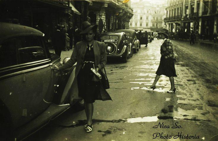 Un Bucuresti ca o scena de film clasic: Calea Victoriei, anii '30