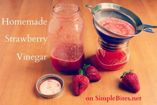 Homemade Strawberry Vinegar.