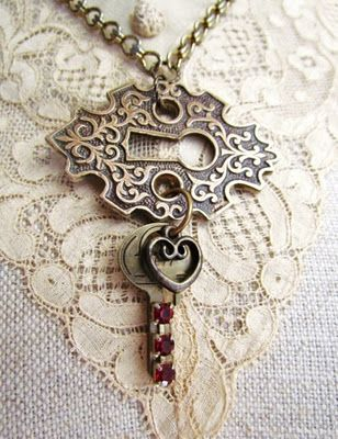 Hardware jewelry! Great ideas.